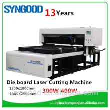 High accuracy and 35m/hour SG1218 co2 die board laser cutting machine 18mm 22mm 23mm MDF