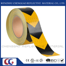 Yellow and Black PVC Hazard Warning Reflective Tape for Truck (C3500-AW)