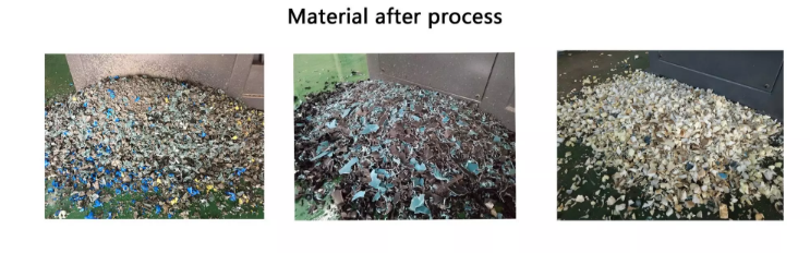 material after process