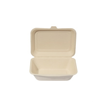 Disposable Sugarcane Bagasse Food Container/lunch box With Lid