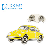 Wholesale custom shaped metal enamel car grill emblem silver plated funny car pin badge