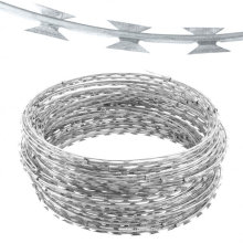 450mm Coil Diameter Triple Strand Concertina Razor Barbed Wire Font