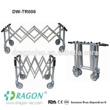 Cadaver mobile stainless steel extendable mortuary trolley
