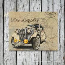 Vintage Old Car Leinwand Gerahmte Grafik