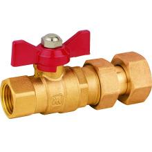 J229 válvula de bola de metro de agua de latón