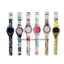 Hot Sale 2017 Kids Watch Analog Silicone Relógios com Movimento Japão