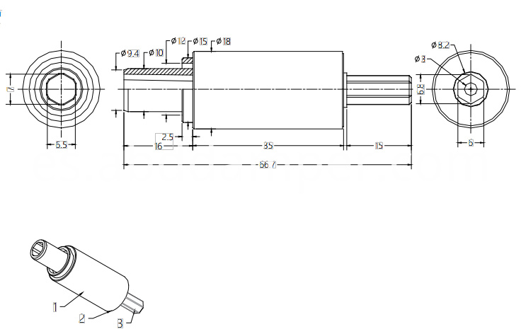 Shaft Damper Drawing For Window Screen