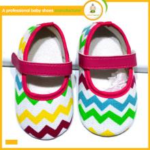 Chaussures de bébé en gros 2015 nouveaux arrivage belle mode colorée chevron bébé enfants chaussures habillées