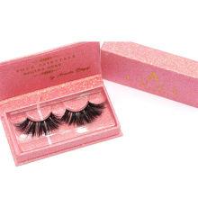 7D99 Hitomi custom lash box Mink Fur Eyelashes Private Label paper eyelash packaging 3d real mink eyelash