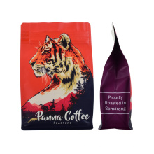 Eco Friendly Custom Logo Printed 250g 500g UV Matt Zipper Square Bottom Valve Bag for Coffee/Coffee Bean Packaging Biodegradable Bag