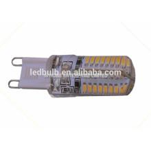 Qualität CE und ROHS keramische Unterseite 96 PC 3014 SMD G9 führte Birnen 10W mit Silikonabdeckung, 3 Jahre Garantie