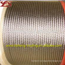 6x19 cuerda de alambre de acero brillante honda