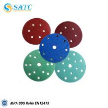 Le disque de tissu de ponçage le plus chaud de polissage de métal et d'acier avec des trous