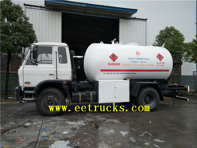 LPG Gas Cylinder Filling Trucks