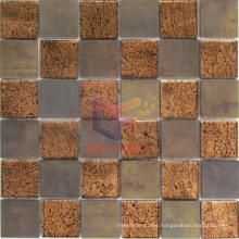 48*48mm Glass Mix Copper Art Mosaic (CFM960)