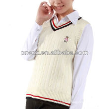 13STC5041 colleage style sleeveless sweater vest