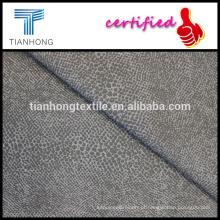 pele de animal impresso tecido elástico de algodão do twill do spandex para outono calça skinny