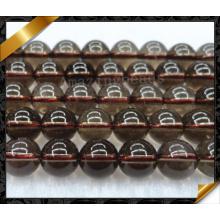 Semi драгоценный шарик, серый кристаллический Gemstone вышитый бисером, ювелирные изделия способа шариков (GB041)