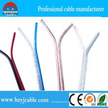CCA / CCC Cable de altavoz transparente de cobre puro de cobre AWG 15 2 * 7 * 21 / 0.12 Cable paralelo