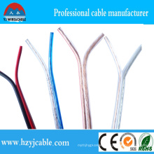CCA/ CCC Pure Copper Blue Transparent Speaker Cable AWG 15 2*7*21/0.12 Parallel Cable