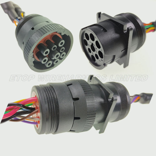 black J1939 connector