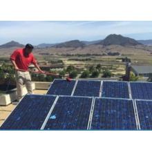 Glasfasermaterial mit Wasser gespeiste Stange mit Klemmen für Sonnenkollektor