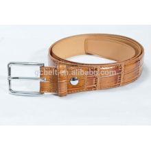 Man's 3.0cm Camel col imitation crocodile PU belt