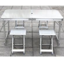 Mesas e cadeiras de alumínio dobrável ao ar livre portátil camping maleta fabricante