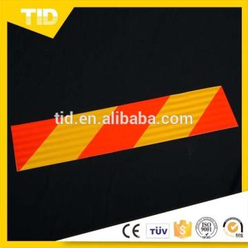 Placas de marcação traseiras refletivas vermelhas amarelas