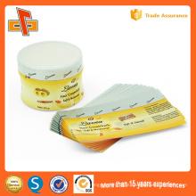 Private personalizado plástico impresso PVC Etiquetas PETShrink Etiquetas Etiquetas para Jam e garrafa