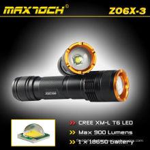 Maxtoch-ZO6X-3 verstellbare Cree T6 900LM Taschenlampe Cree Zoom