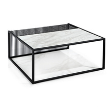 Italian Simple Style Coffee Table with Powder Coating Finished