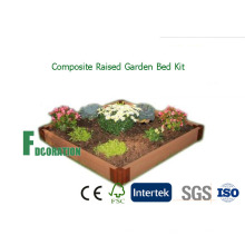 "WPC композита поднятые кровати сад сеялка комплект 42 «X 84 ""Х 8"" для выращивания здоровых овощи"