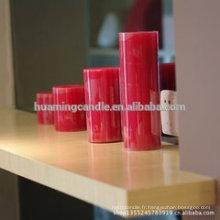 Huaming bougies décorées / Vente en gros de bougies blancs / bougies d'église à pilier blanc
