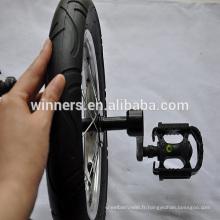 Roue solo monocycle 12 pouces avec manivelles et pédales