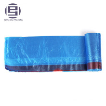 Waterproof drawstring garbage plastic bag on roll