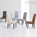 Meilleur prix Antique élégant dos en cuir à manger chaises