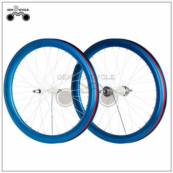 700C 40mm fix double-walled aluminum wheelset2