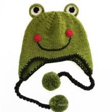 Der Frosch Prinz Lächeln Kinder Beanie Hat (XT-CB002)