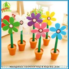 2015 hangzhou pen factory hot sell plastic flower ball pen for kids