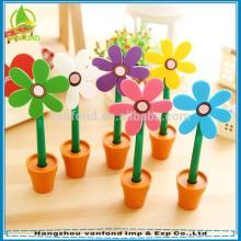 2015 hangzhou caneta fábrica quente vende caneta flor de plástico para crianças