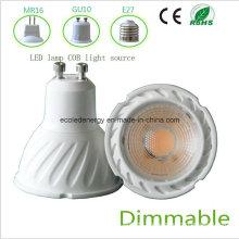 Alto Qiality Dimmable 5W GU10 COB LED Luz