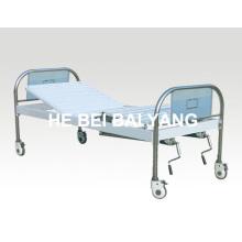 A-111 bewegliches einzelnes Funktions-Handbuch Krankenhaus-Bett