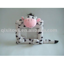 Plush and stuffed cow toy photo frame