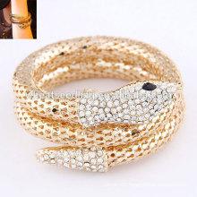 2014 fashion alloy bangle gold snake bangle