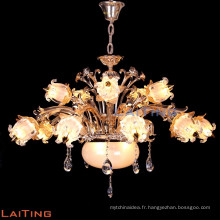 Lustre en cristal de bougie de fer de style européen d'or antique 88652
