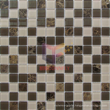 Modern Simple Design Glass Mix Marble Mosaic (CS239)