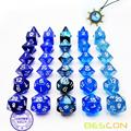Bescon RPG Dice Set 35pcs Ocean Blue Set, Juego de rol DND Dice 5X7pcs