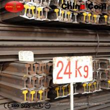 Стандартный 24кг стальной рельс Железнодорожный 55q сталь q235 легкорельсового транспорта
