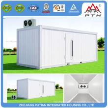 Alta qualidade, tamanho diferente, recipientes de refrigeração prefabricados, casa, preço baixo